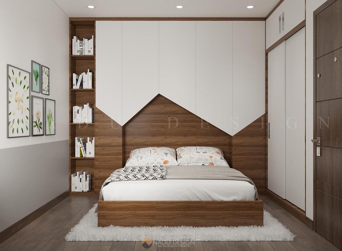 Thiết kế nội thất phòng ngủ nhỏ chung cư Vinhome WestPoint
