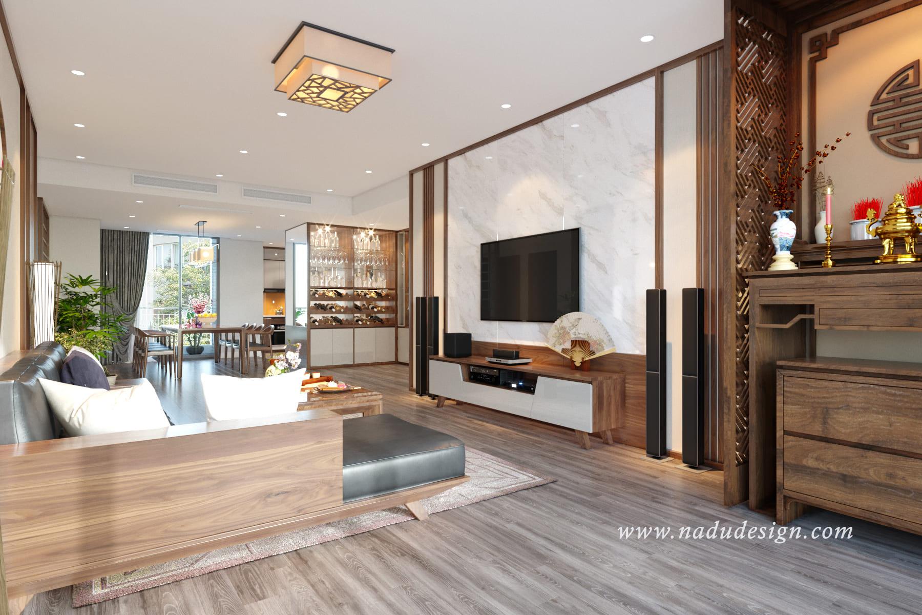 Thiết kế nội thất theo xu hướng mở