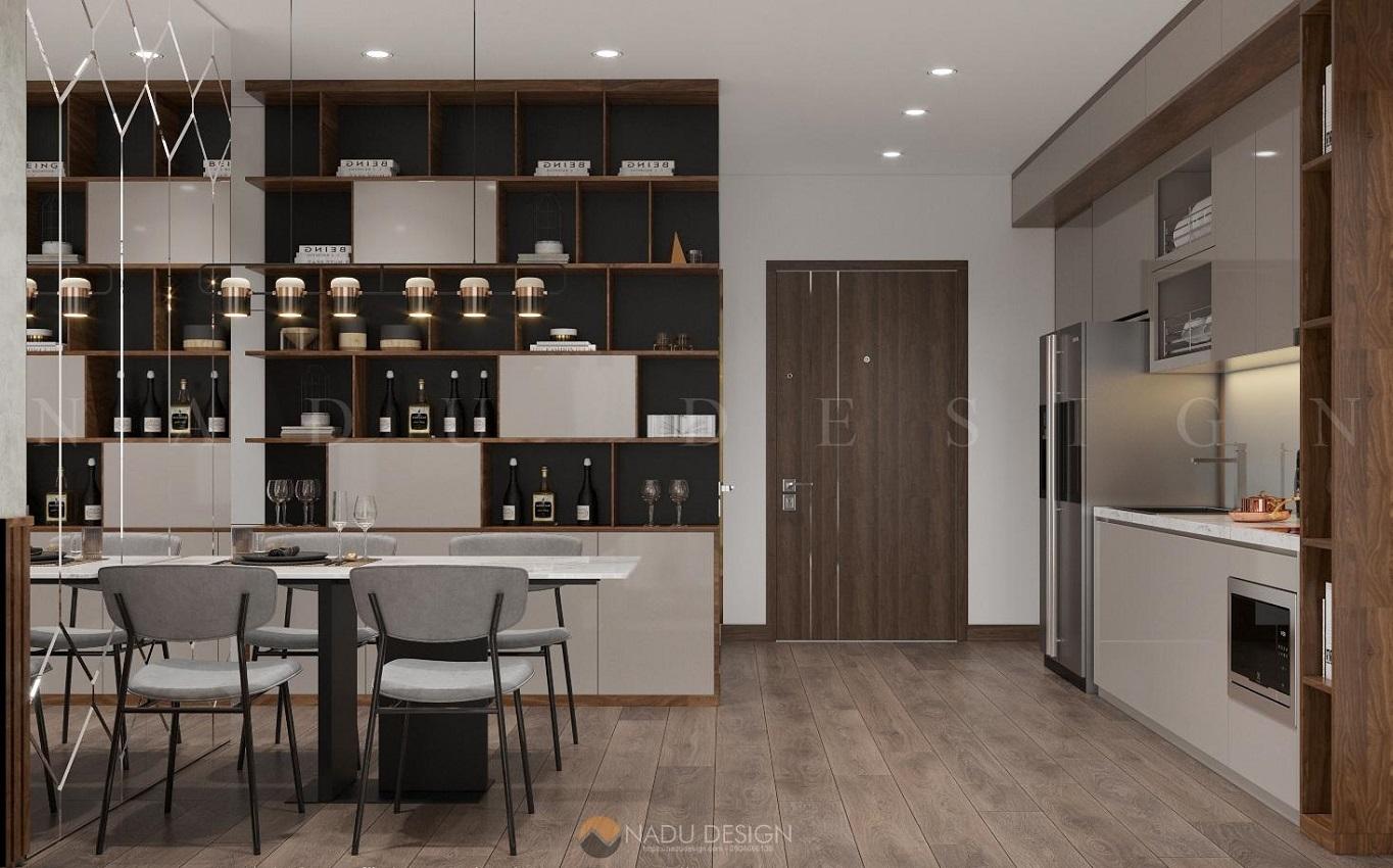 Thiết kế nội thất phòng bếp chung cư Vinhome WestPoint