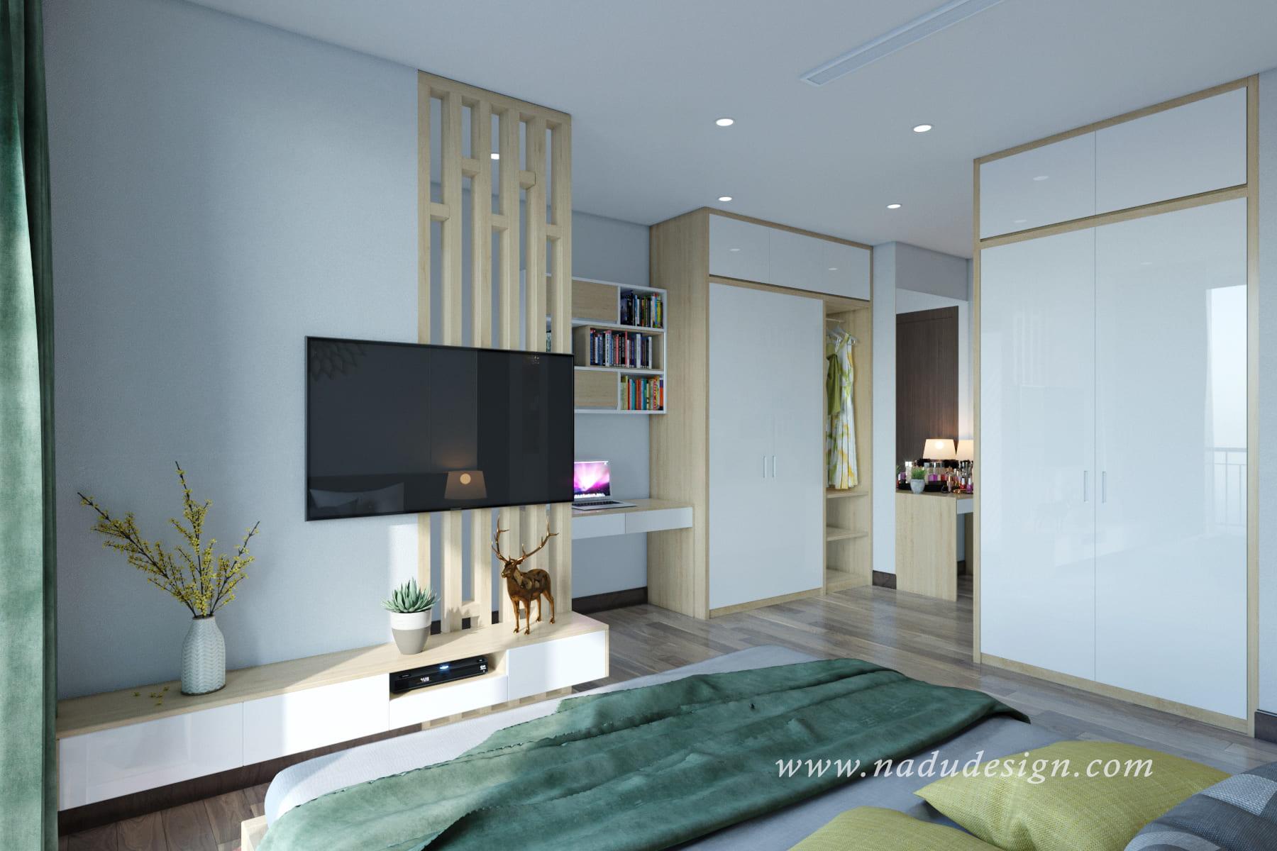 Mẫu thiết kế phòng ngủ master hiện đại