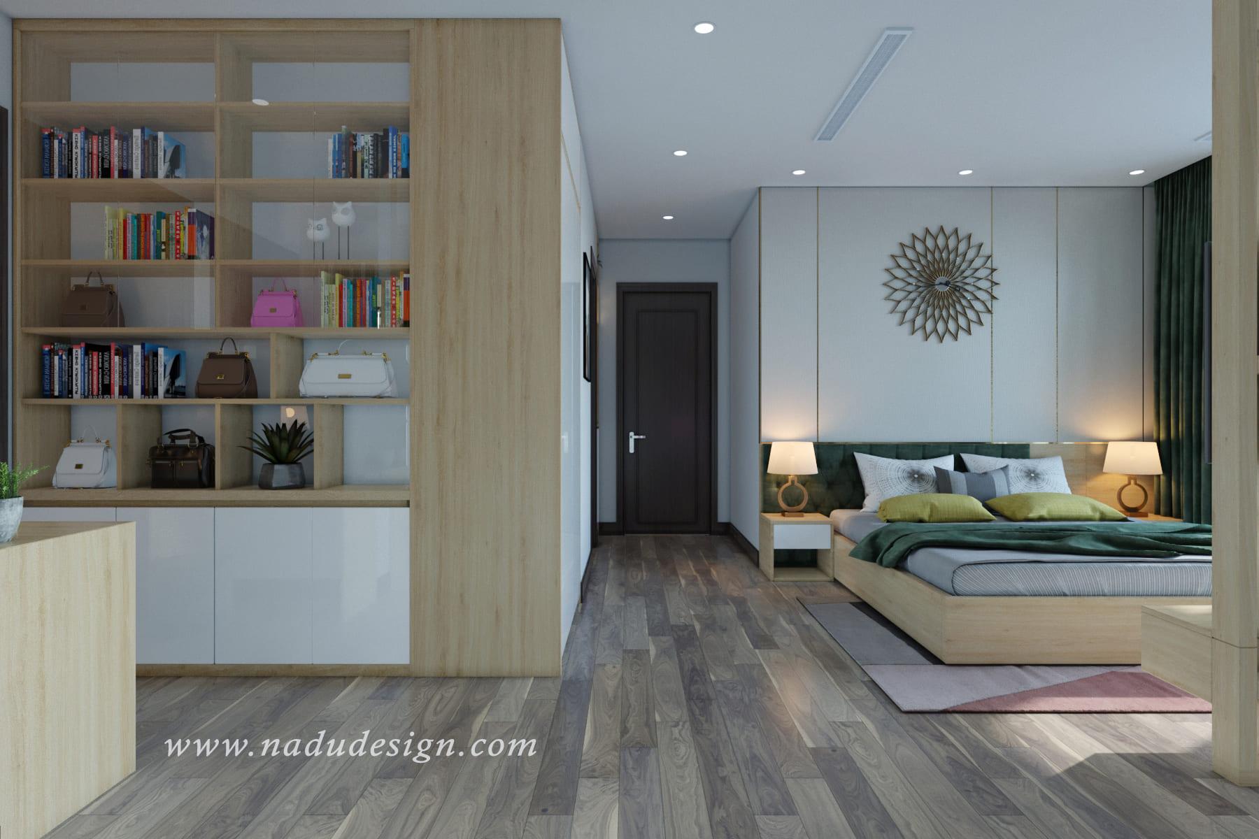 Thiết kế phòng ngủ master hiện đại