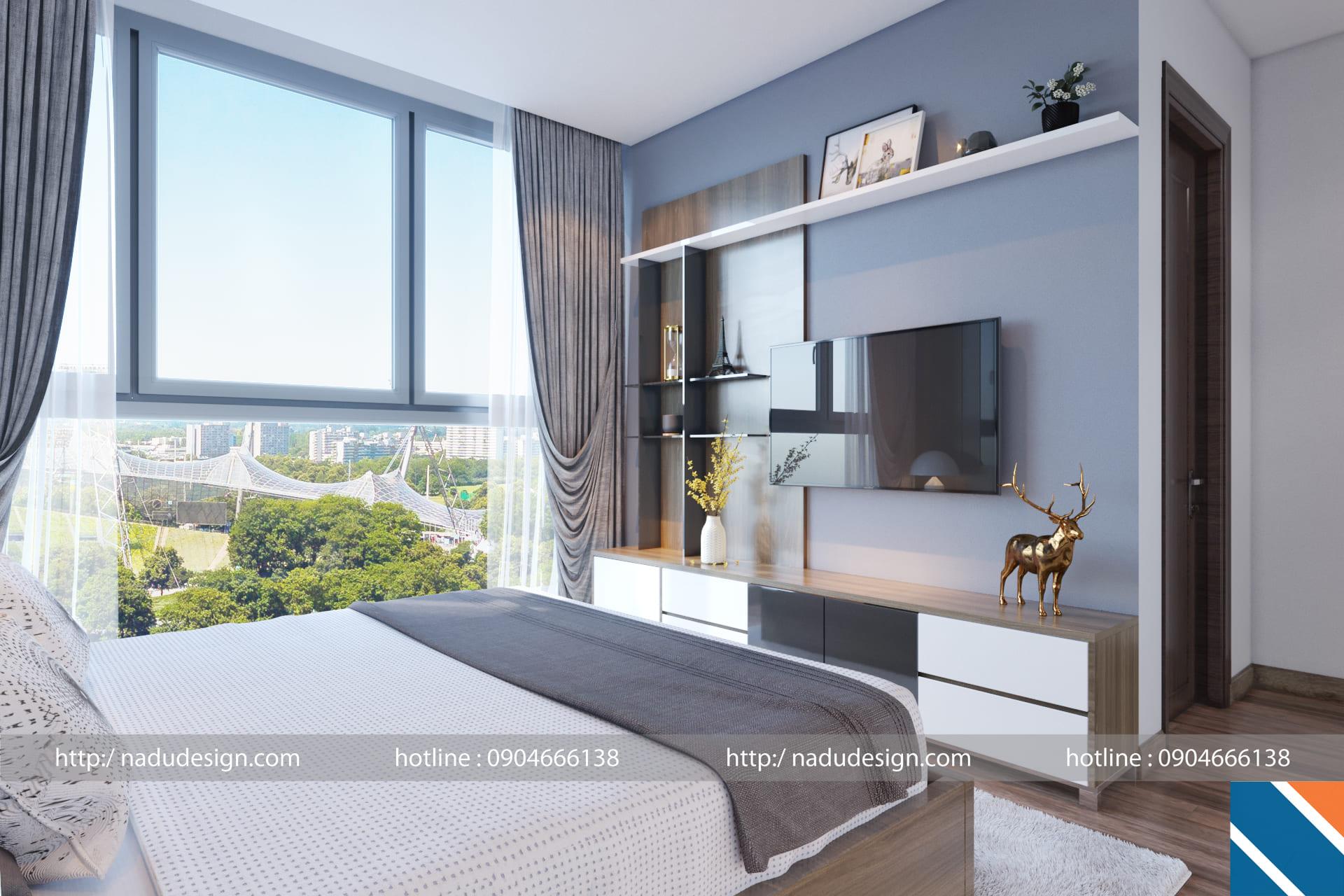 Thiết kế nội thất chung cư 100m2 bày trí phòng master