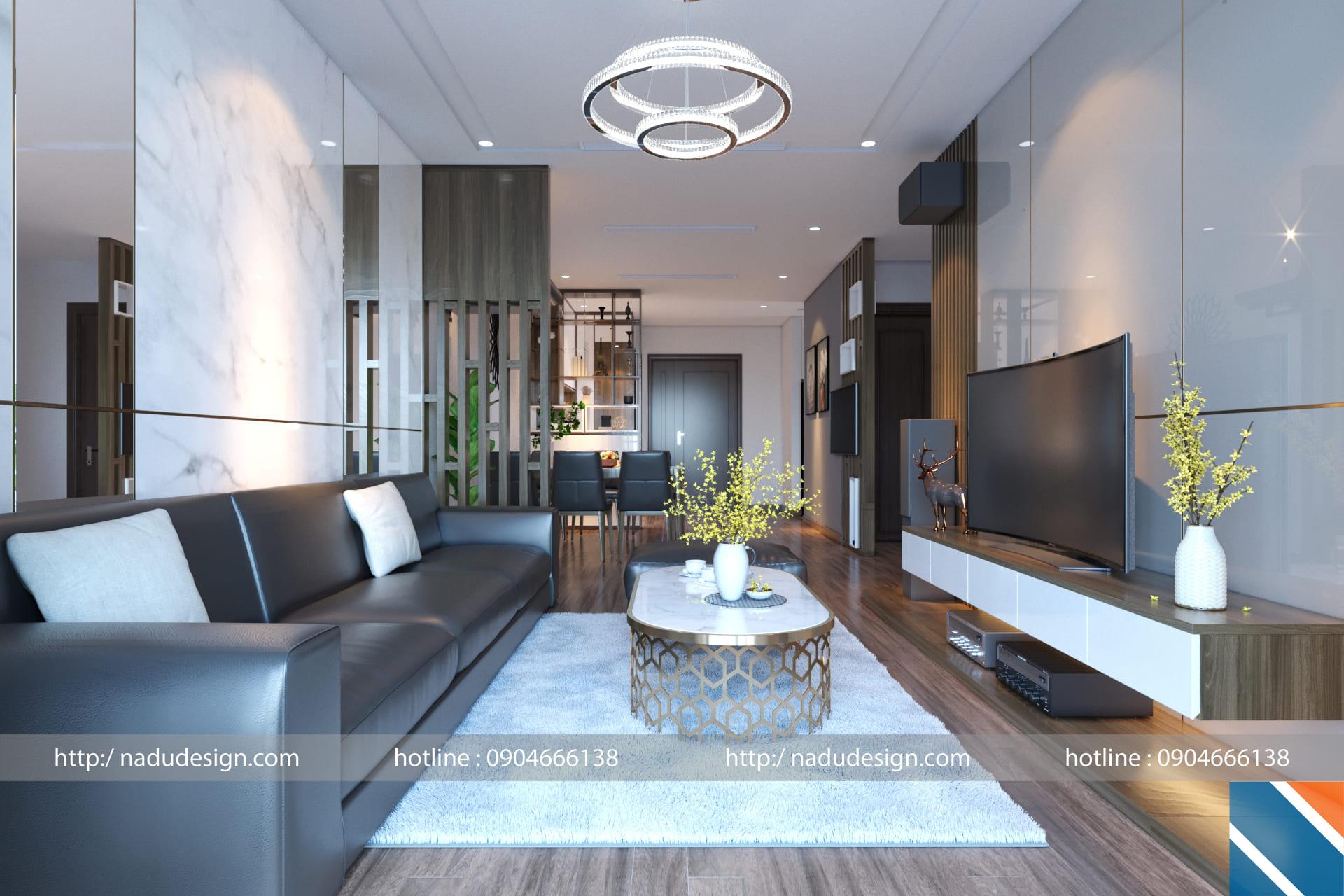 Thiết kế nội thất chung cư Metropolis anh Tiến