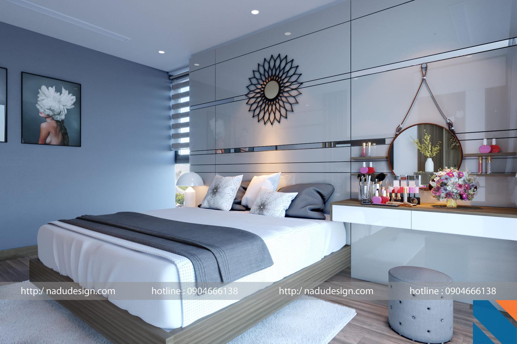 Thiết kế, thi công nội thất phòng ngủ với gỗ công nghiệp MFC An Cường
