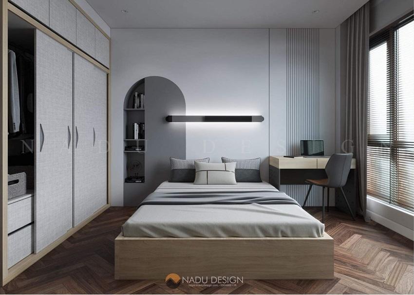 nội thất tối giản của căn hộ này được KTS NaDu lựa chọn