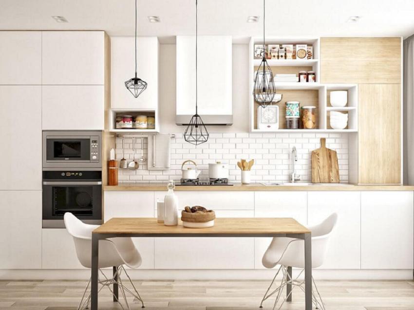 Phòng bếp được NaDu tận dụng không gian mở vô cùng thoáng đãng
