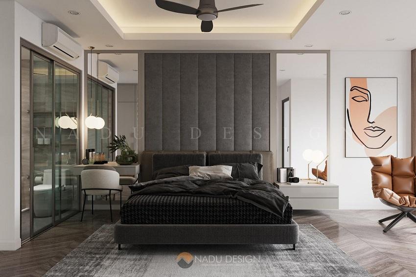 Với việc sử dụng các gam màu đơn sắc cho phòng ngủ mang phong cách Bắc Âu, bạn sẽ chỉ thấy được sự dễ chịu, thoải mái và thư giãn