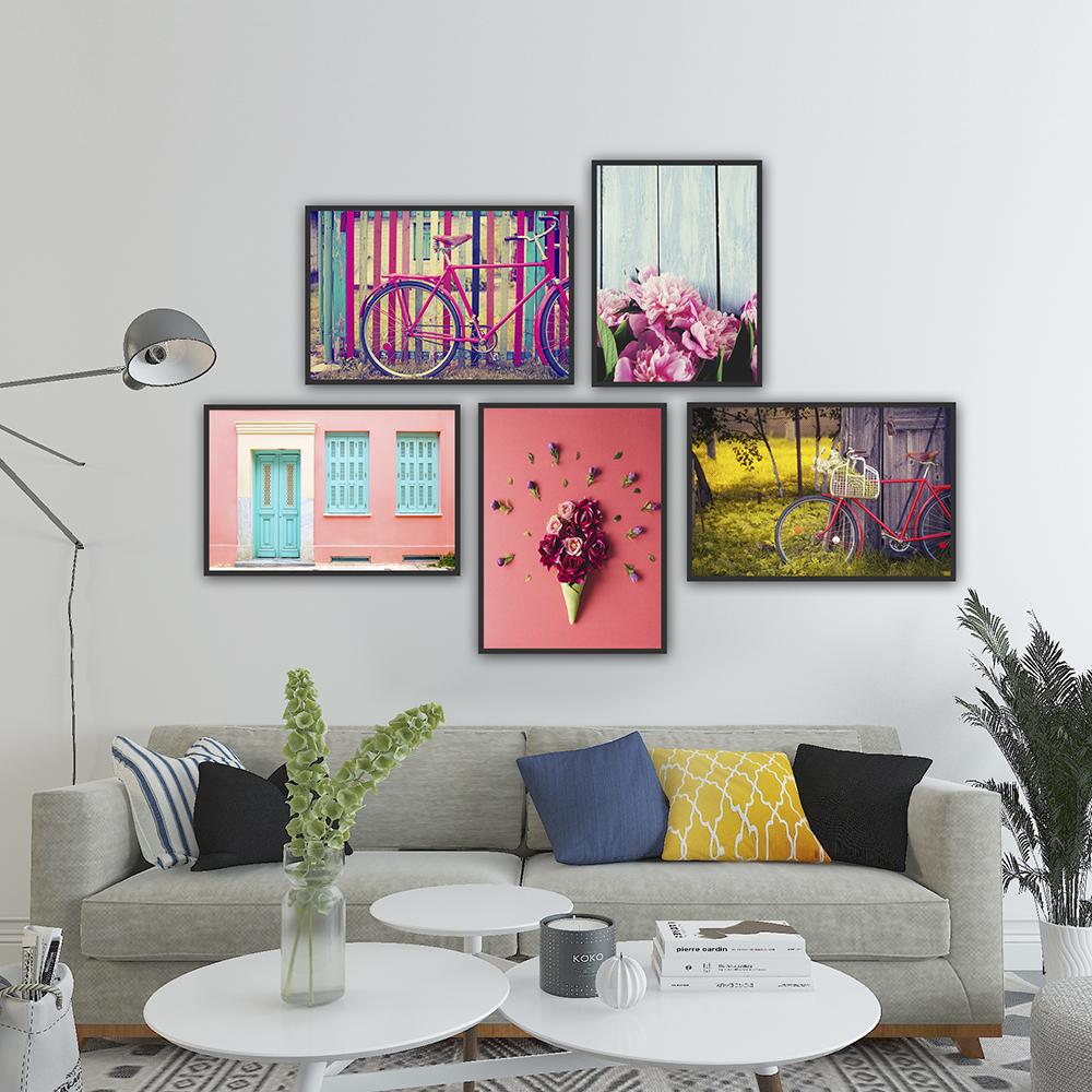 Trang trí nhà ở dịp tết bằng kệ gỗ, khung tranh