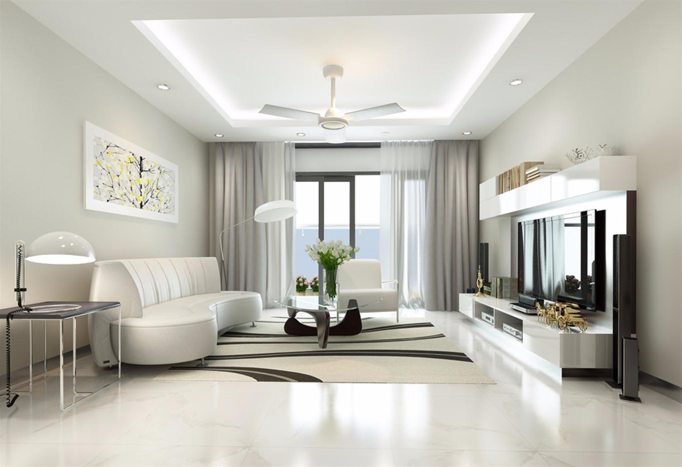 Căn phòng sáng màu đem lại cảm giác thông thoáng cho không gian chật hẹp