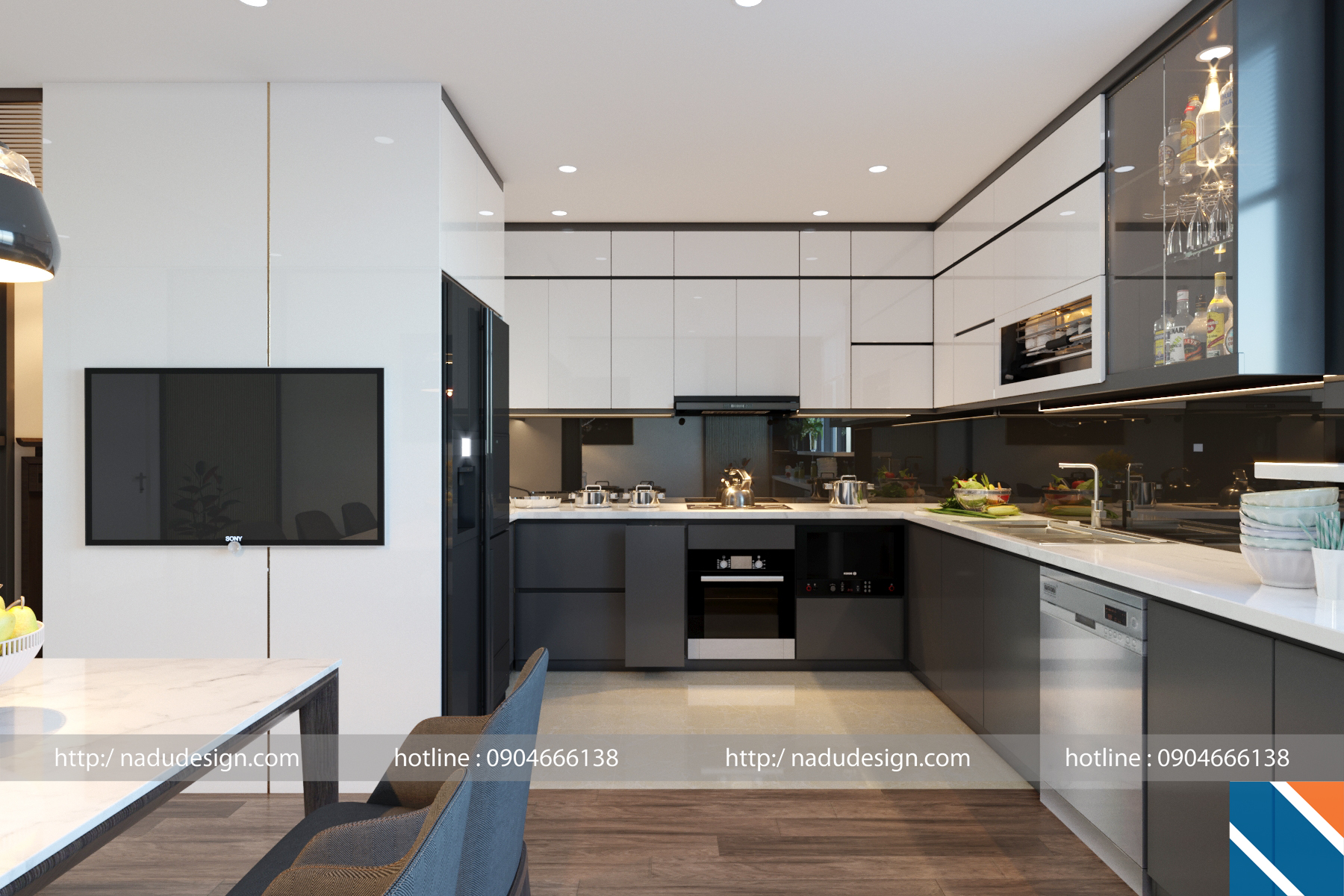 Tủ bếp đẹp NaDu ảnh 2