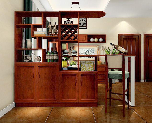 Tủ rượu ngăn phòng khách và phòng bếp