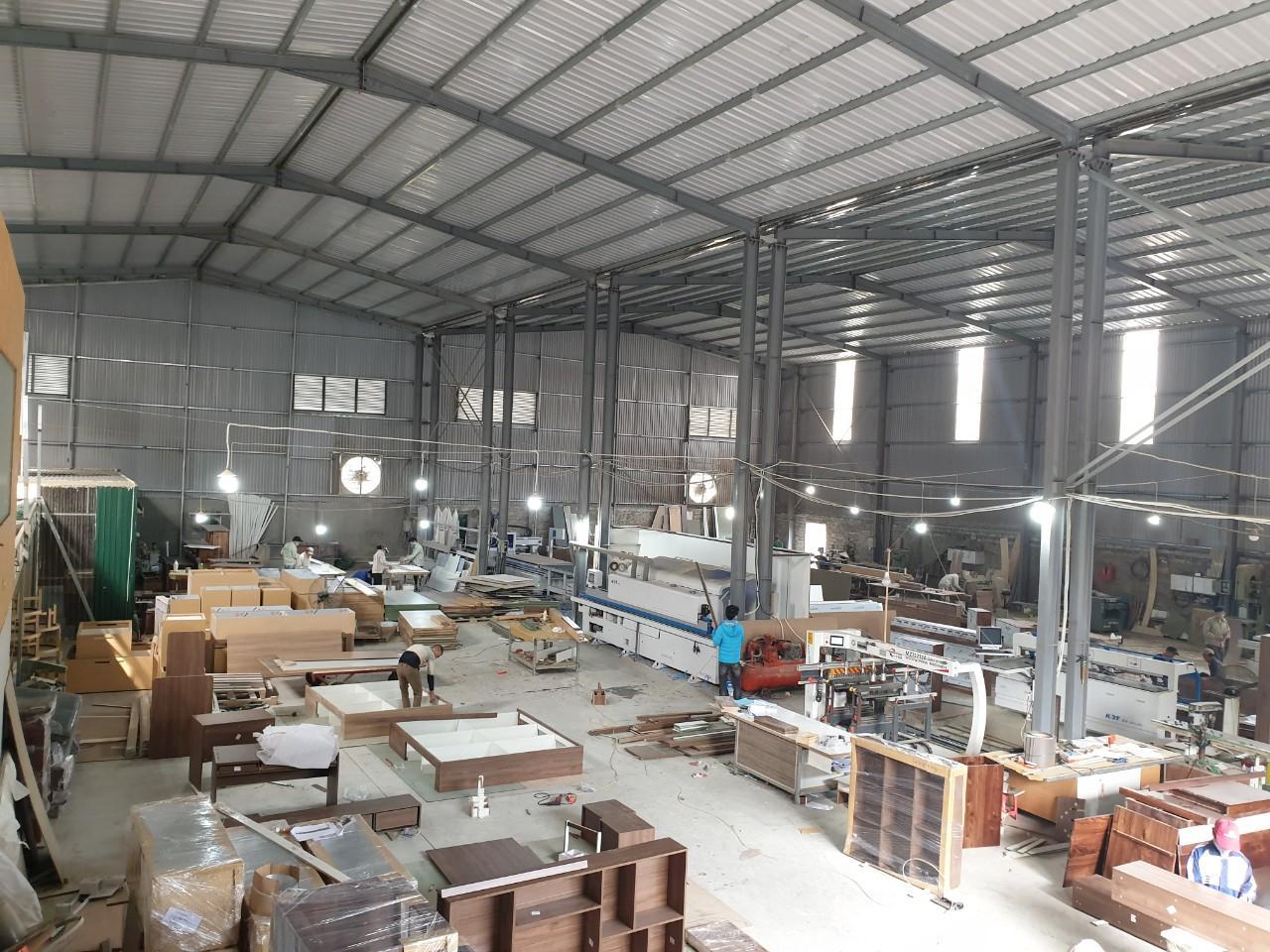 Xưởng sản xuất đồ gỗ nội thất của NaDu Design rộng trên 2000m vuông