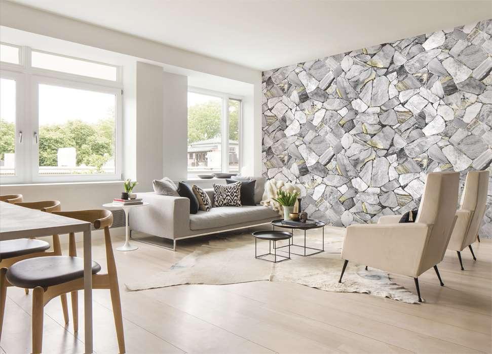 Mẫu giấy dán tường 3D phòng khách đẹp