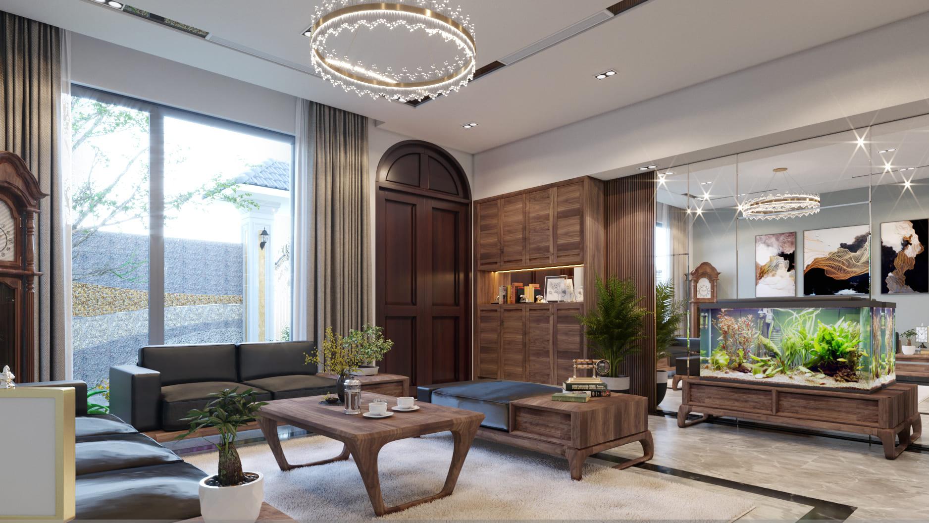 Nội thất gỗ óc chó – Vẻ đẹp say đắm mọi ánh nhìn