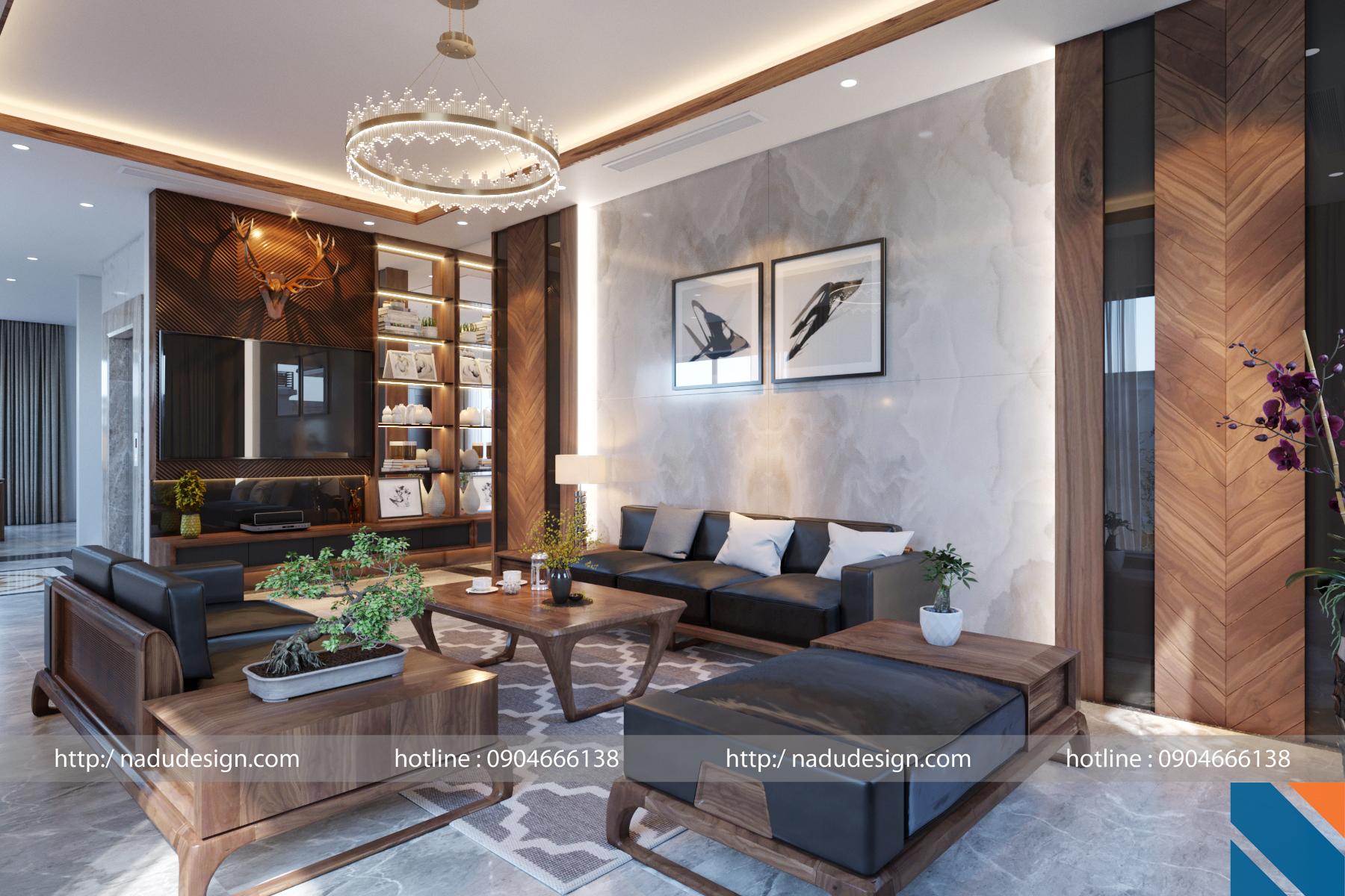 Đẳng cấp nội thất gỗ óc chó – Công ty kiến trúc nội thất cao cấp NaDu