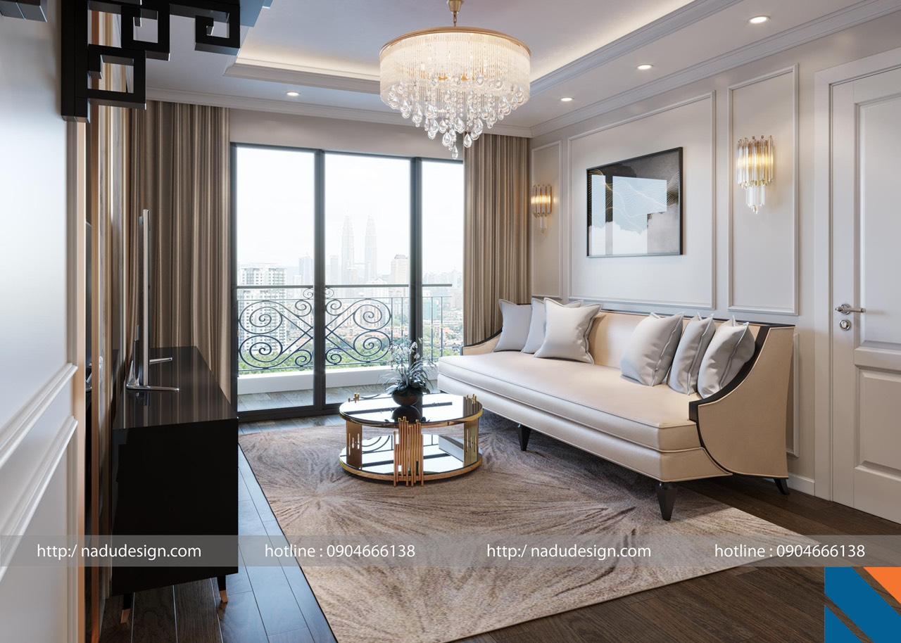 Thiết kế nội thất tân cổ điển chung cư Shunshine Garden