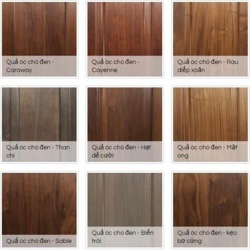 Màu gỗ óc chó và hướng dẫn cách pha màu óc chó