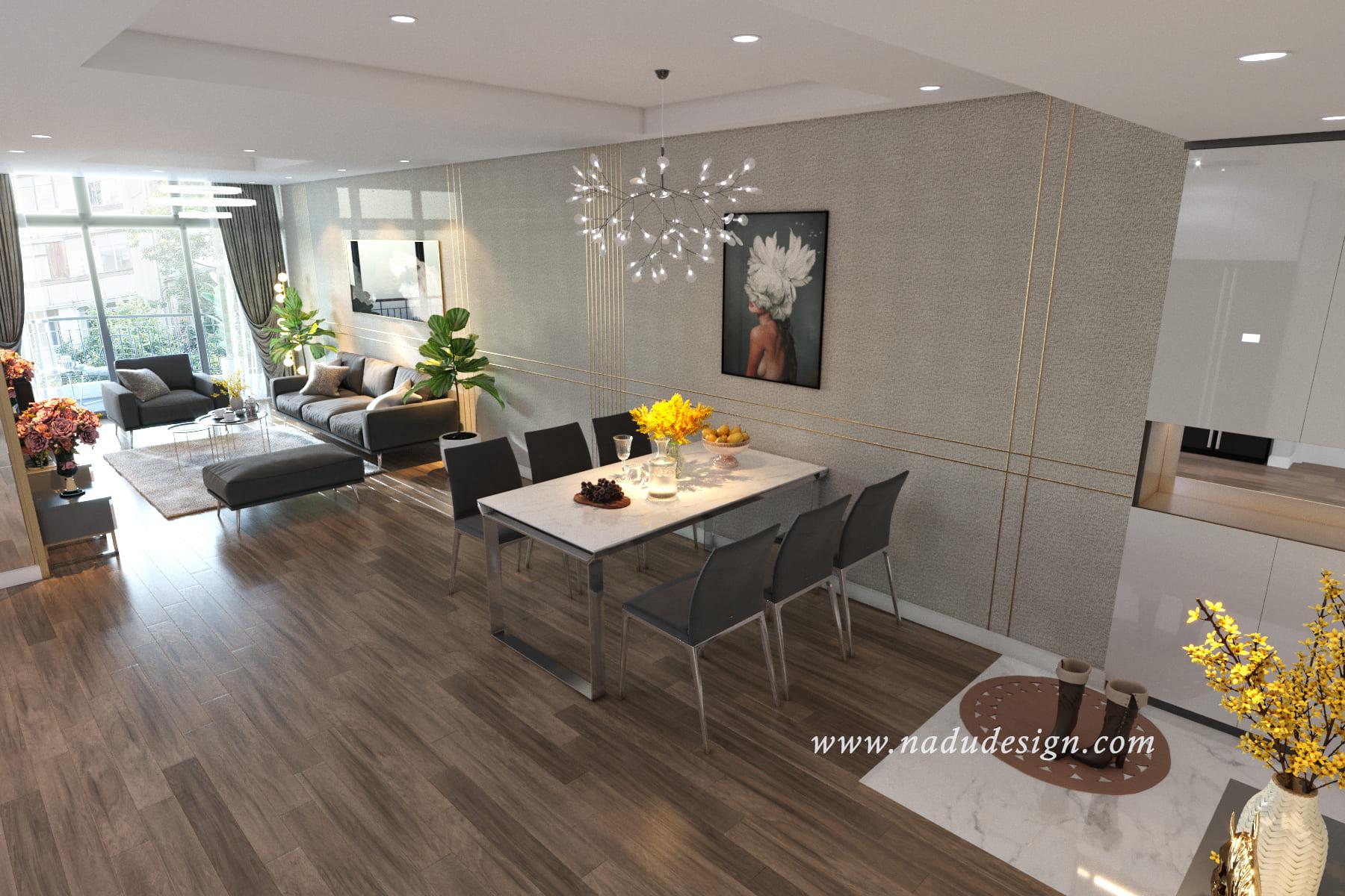 Thiết kế nội thất chung cư đẹp Discovery Complex 302 Cầu Giấy