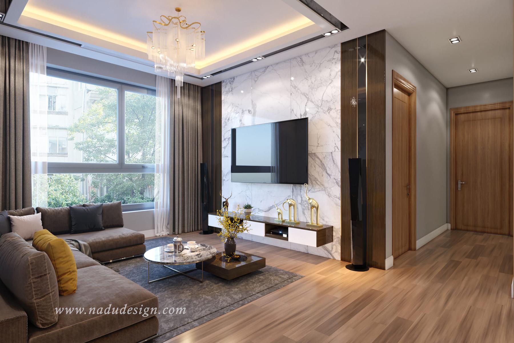 Thiết kế nội thất chung cư B6 Giảng Võ hiện đại và đẳng cấp