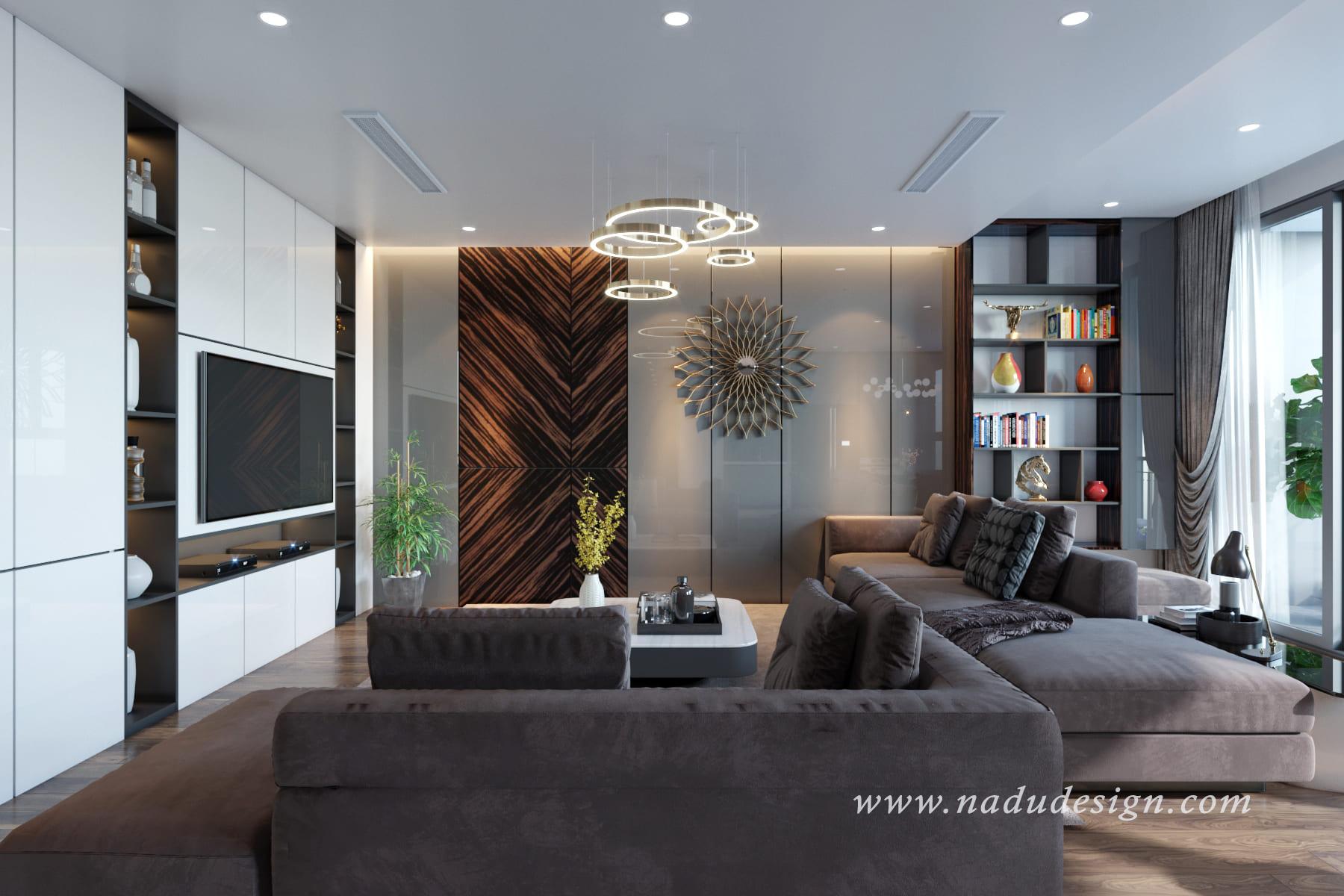Thiết kế nội thất chung cư CT8 với tone ghi cá tính
