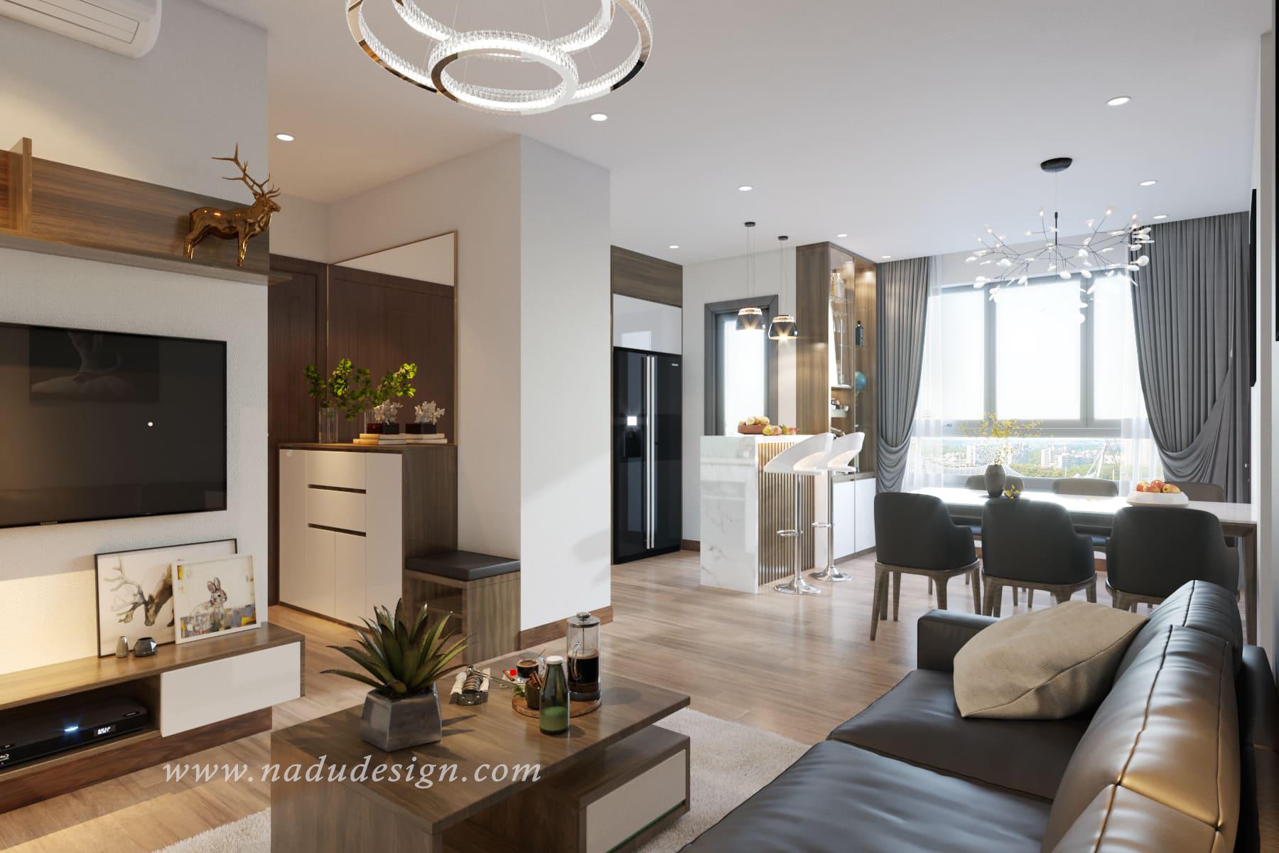 Thiết kế nội thất chung cư Gelexia Riverside tận dụng nguồn sáng tự nhiên