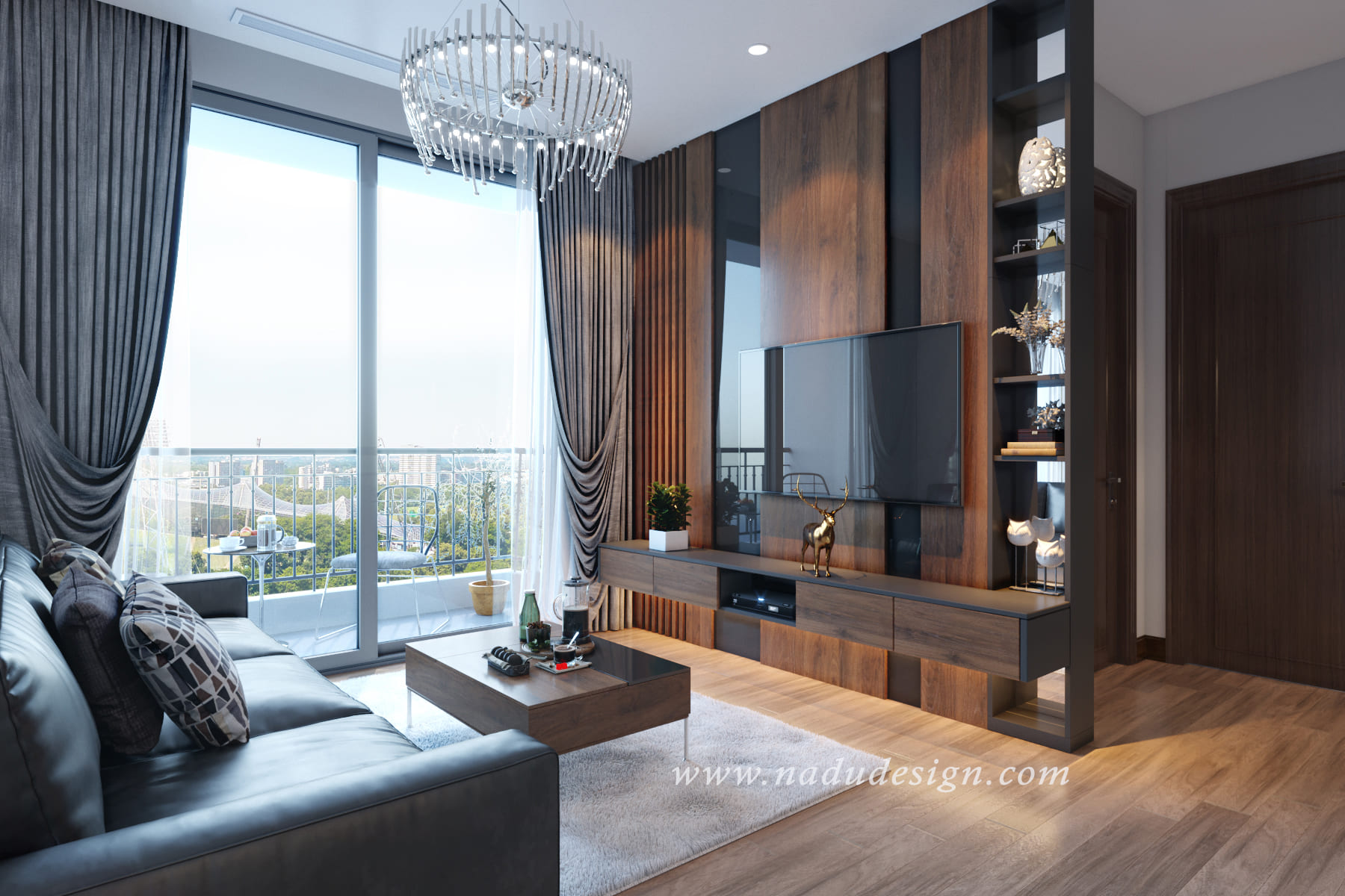 Thiết kế nội thất đẳng cấp cho căn hộ chung cư Vinhomes Green Bay