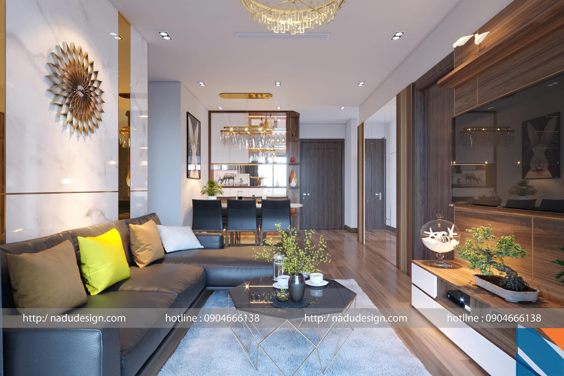 Nội thất căn hộ Vinhomes Skylake không gian sang chảnh và vô cùng hiện đại