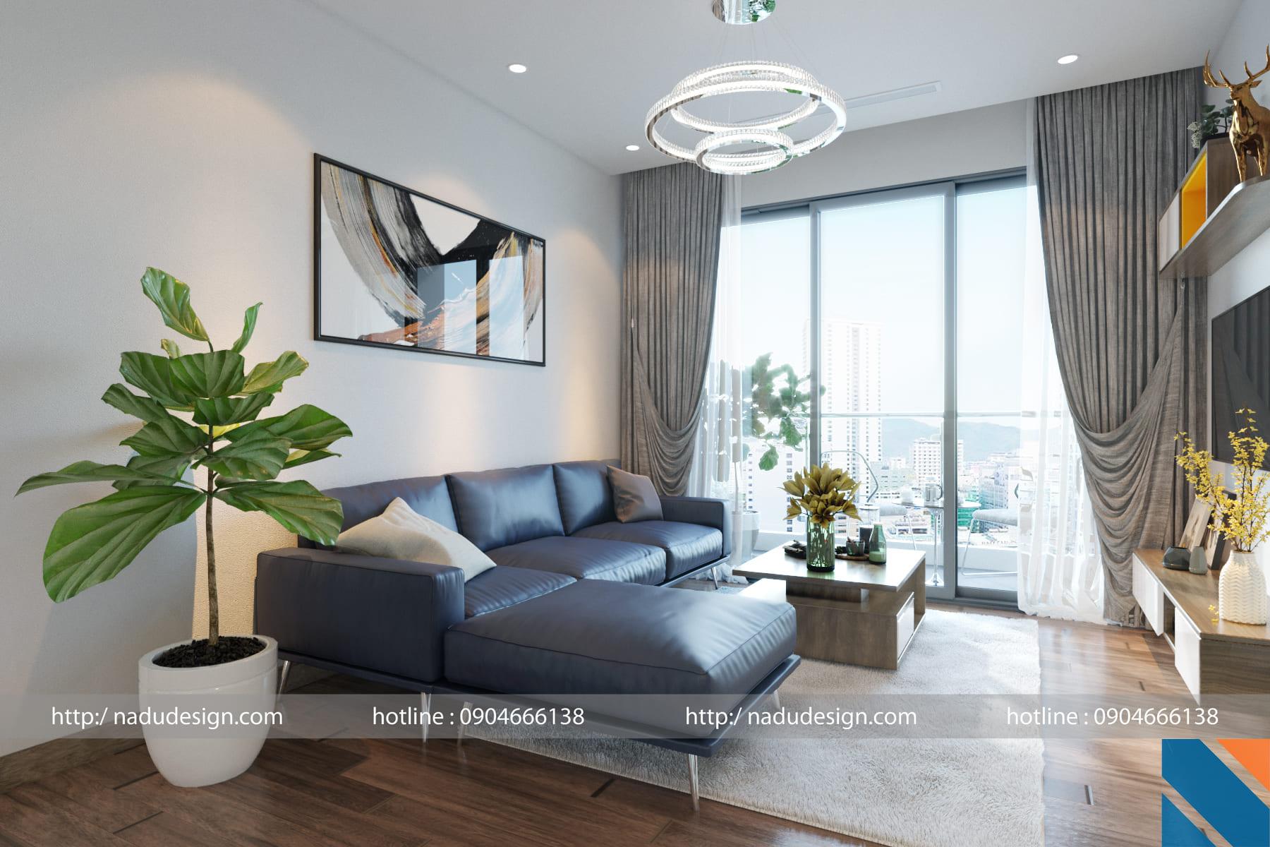 Thiết kế căn hộ Vinhomes Metropolis hiện đại 2 phòng ngủ