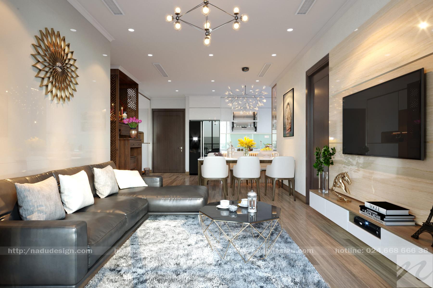 Thiết kế thi công chung cư Vinhomes Gadenia 3 phòng ngủ