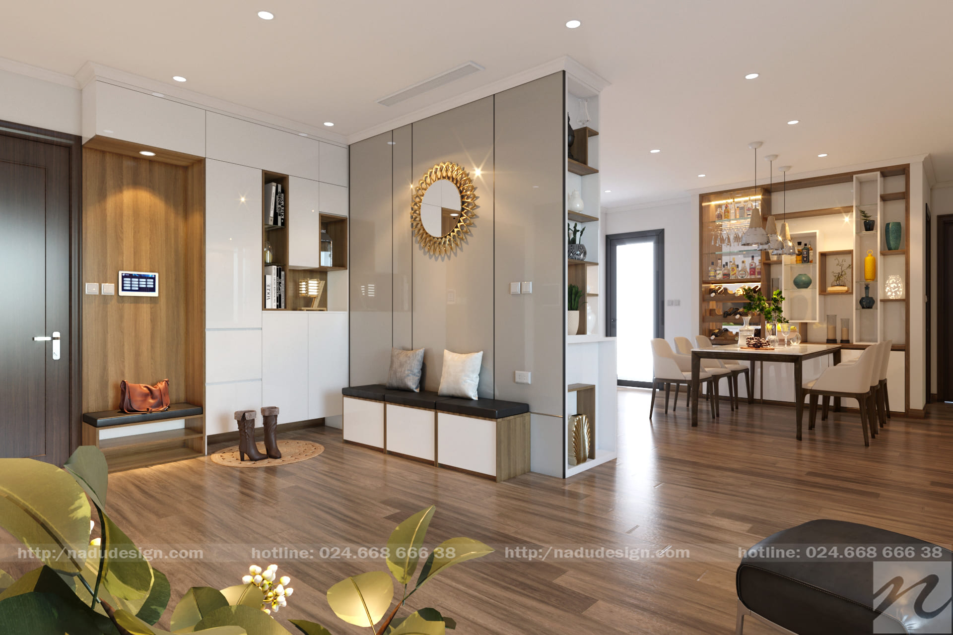 Thiết kế thi công căn hộ Vinhomes Gardenia 2 phòng ngủ