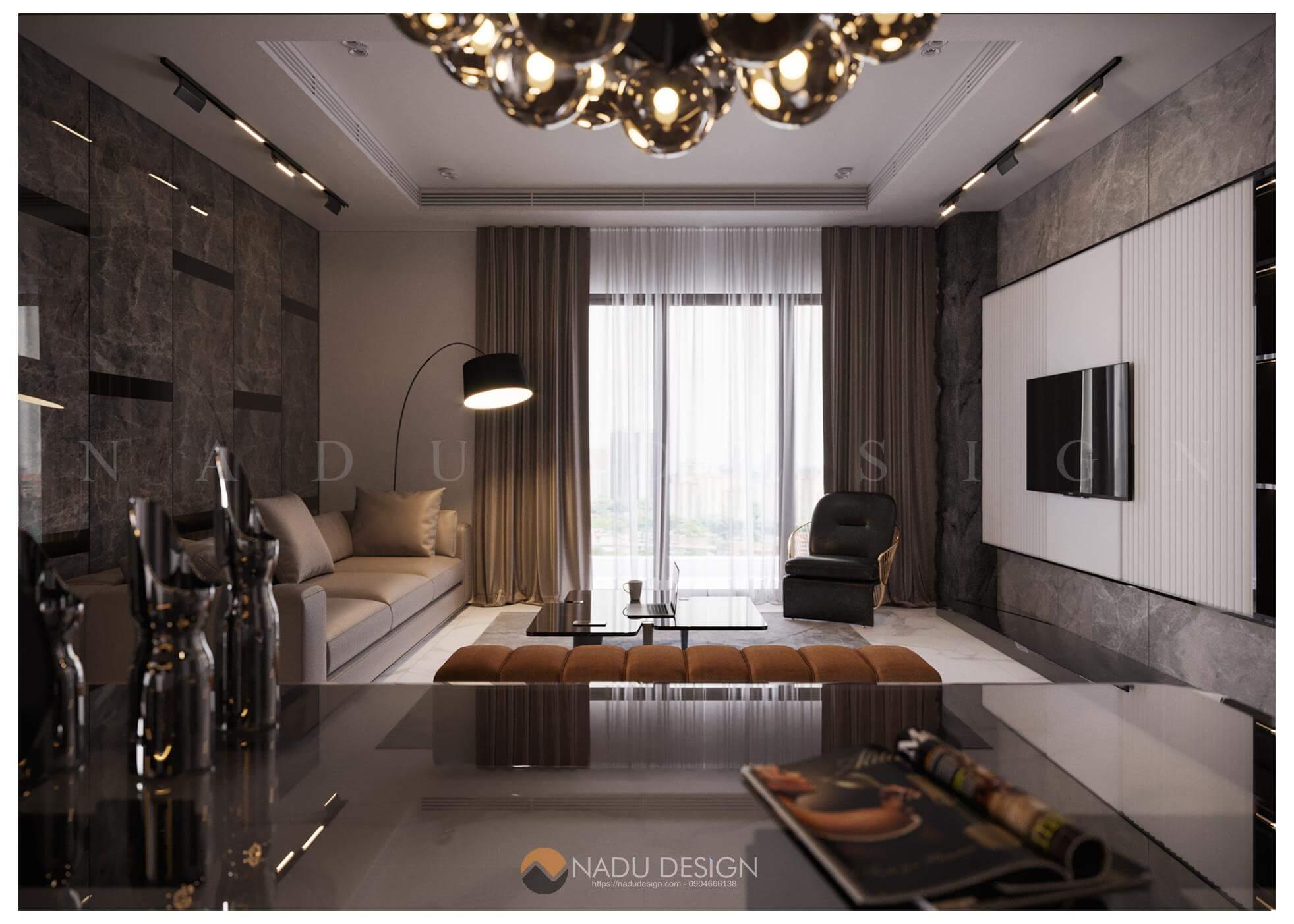 Thiết kế nội thất căn hộ Sunshine City- Anh Giang