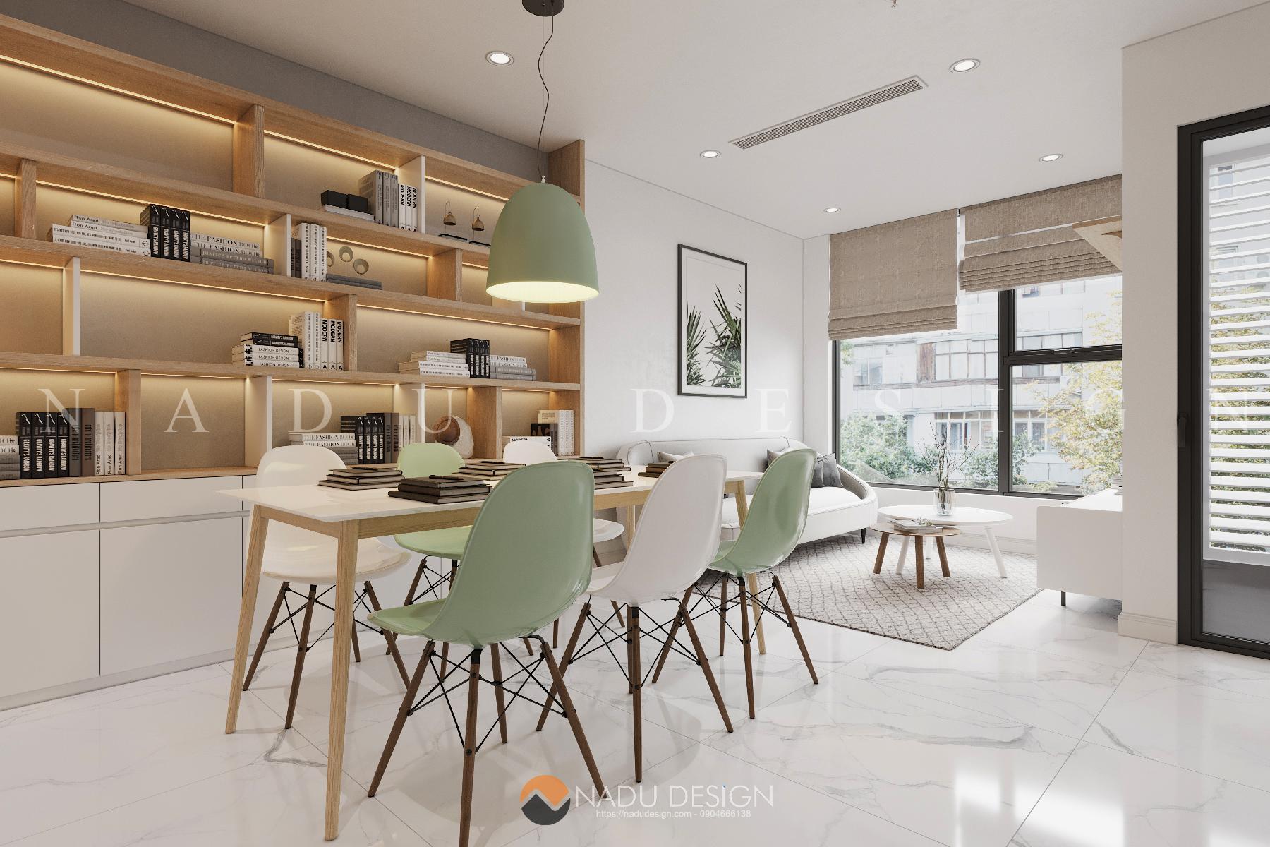 Thiết kế căn hộ 2 tầng mini phong cách Bắc Âu