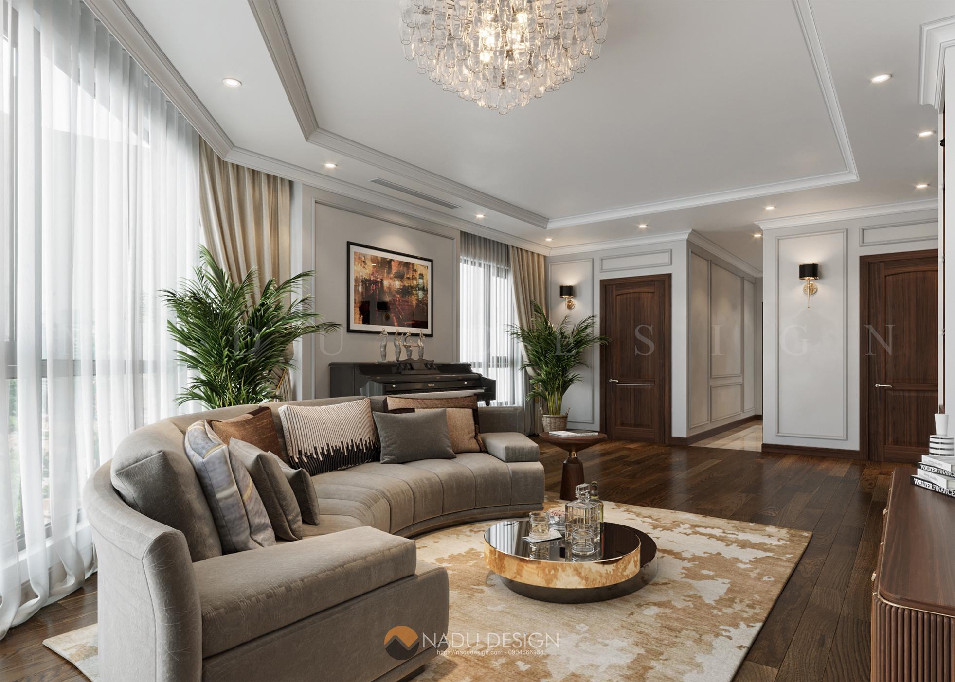 Thiết kế nội thất căn hộ Roman Plaza