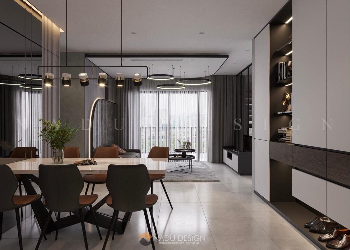 Thiết kế nội thất căn hộ Vinhomes Smart City - Chị Nhung