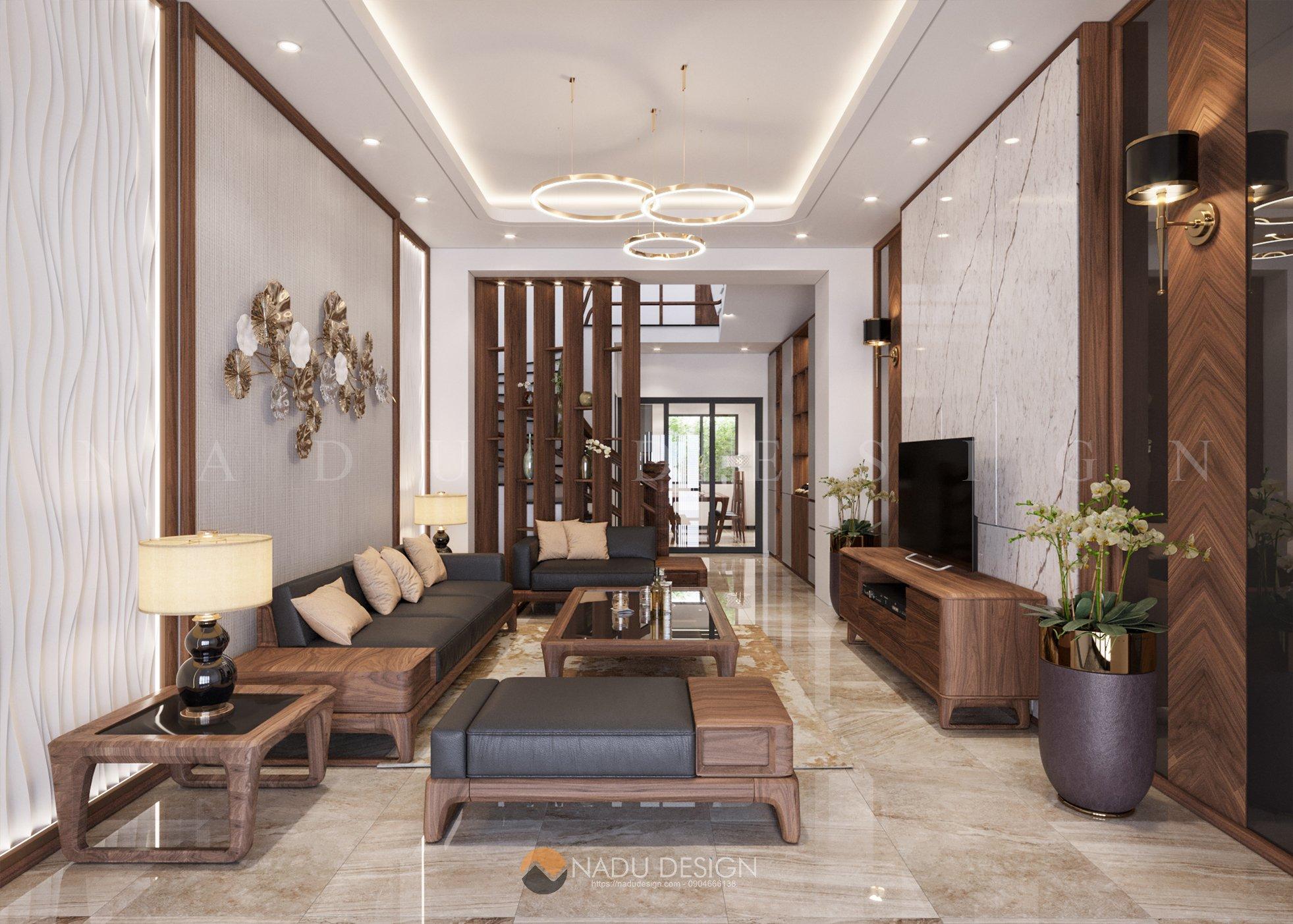 Thiết kế thi công nhà phố anh Hải - Vĩnh Phúc