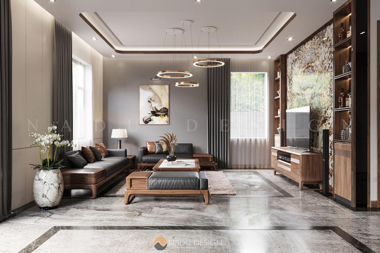 Biệt thự gỗ óc chó siêu chất Thái Bình - NaDu Design