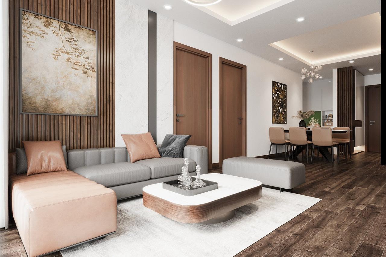 Thiết kế thi công căn hộ Ngoại Giao Đoàn cực chất