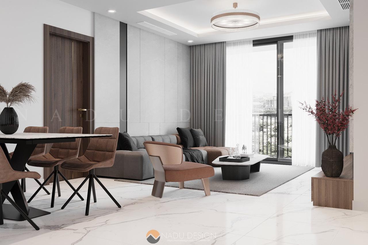 Thiết kế thi công căn hộ Sunshine City mang màu Bắc Âu