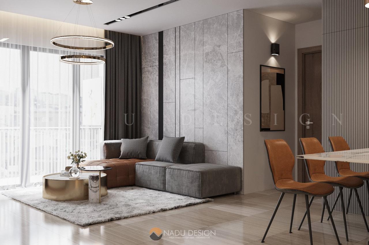 Thiết kế căn hộ Vinhomes Smart City 80m2 hiện đại mới