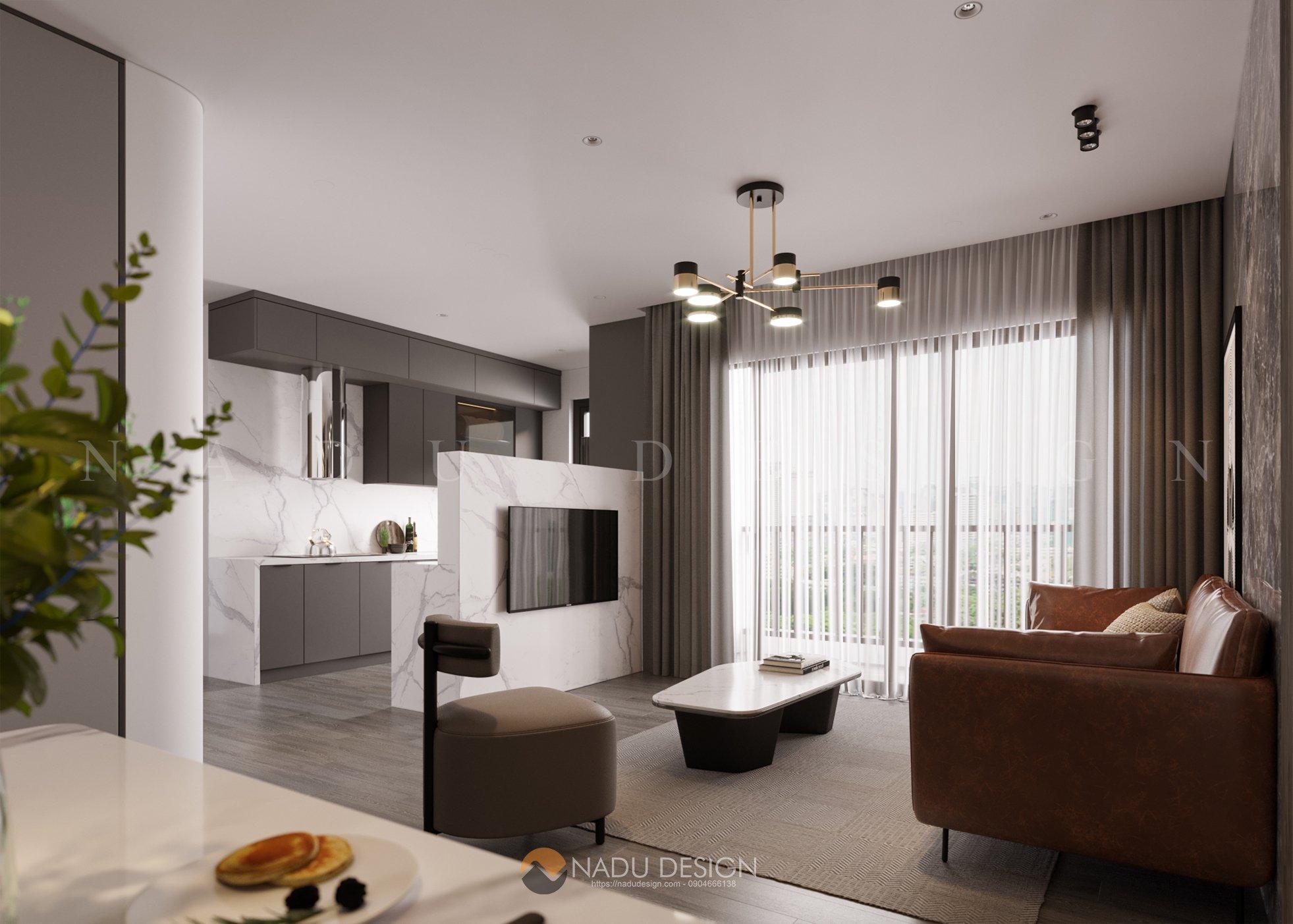 Thiết kế căn hộ Vinhomes Smart City 80m2 siêu thông minh
